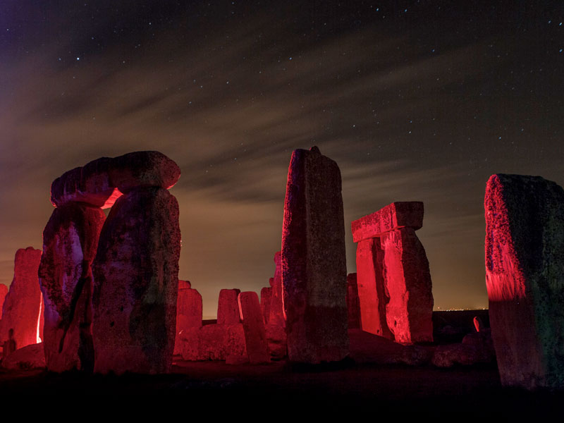 Stonehenge - Impact with light project